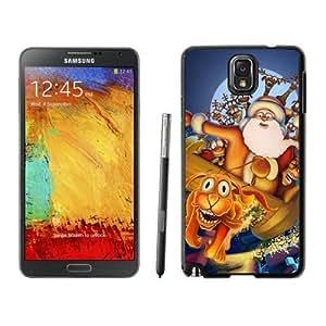 Note 3 Case,Santa Claus Ship TPU Black Samsung Galaxy Note 3 Cover Case,Note 3 Cover Case