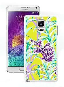 Samsung Galaxy Note 4 Kate Spade 239 White Cellphone Case Unique and Popular Design