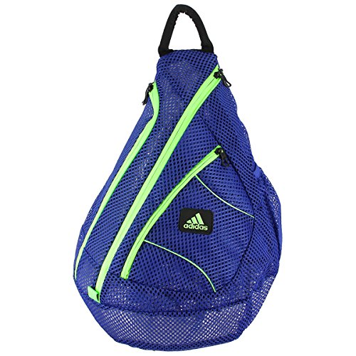 adidas Vista Mesh Sling Backpack, Bold Blue/Solar Green, One Size