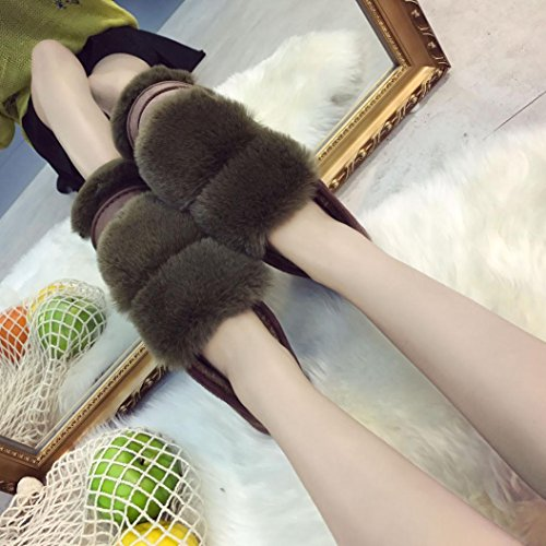 Women Warm Flats Lofers,Winter Soft Shoes Outdoor&Indoor By Letter54,Easy To Wear Green