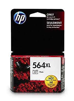 HP 564XL Black Photo Ink Cartridge (CB322WN) for HP Deskjet 3520 3521 3522 3526 Officejet 4610 4620 4622 Photosmart 5510 5514 5515 5520 5525 6510 6512 6515 6520 6525 7510 7515 7520 7525 B8550 C6340…