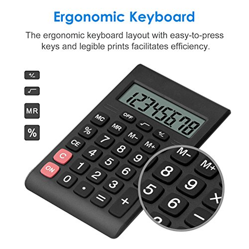 Calculator, Helect Compact Design Standard Function Handheld Portable Calculator - H1007 Photo #5