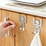 Stainless Steel Home Kitchen Wall Door Holder Hook Hangers Door HooK Nail Free Door Hook Rack Home Storage shelves Kangsanli