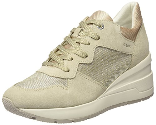 Geox WoMen D Zosma C Trainers, Ivory (Off-White), 4 Beige (Lt Taupe C6738)