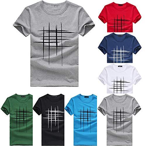 Simple Manches Rond Décontracté Col Coton Tee shirt Chemise À T Noir Chemisier Courtes Impression Casual Tees Feixiang Shirt q7Y6q