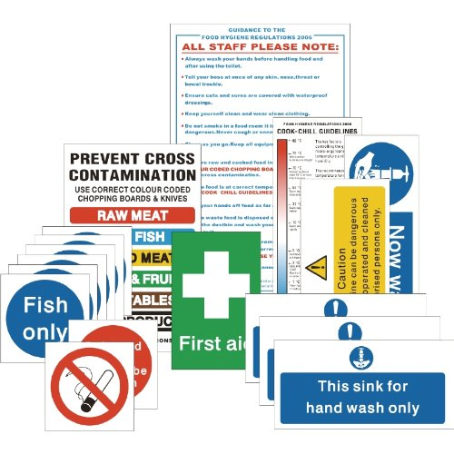 Senior Hygiene Catering Sign Pack Notice Safety Plaque Poster Commercial Nisbets 8792