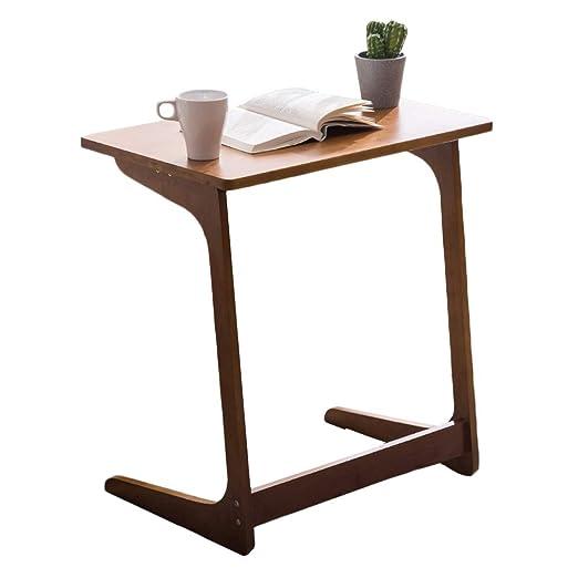 HYDT Mesas auxiliares Mesa Auxiliar portátil de bambú con sofá y ...