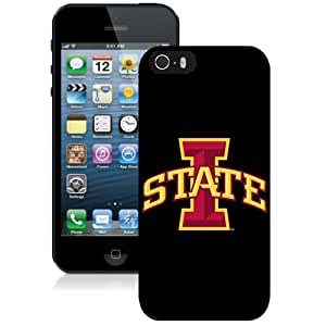 Beautiful Designed With NCAA Big 12 Conference Big12 Football Iowa State Cyclones 4 Protective Cell Phone Hardshell Cover Case For iPhone 5S Phone Case Black