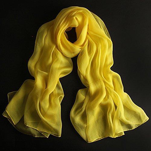 Châles MEIDUO Femme Foulard en soie 100% soie printemps et d hiver hiver  Foulards en soie Rectangle 180   110cm (Couleur   Orange)  Amazon.fr  Jardin 75b7516287b