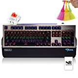 Normia Rita Alloy Backlight Game Mechanical Keyboard Cherry MX Red with Big Hand Holder - Black