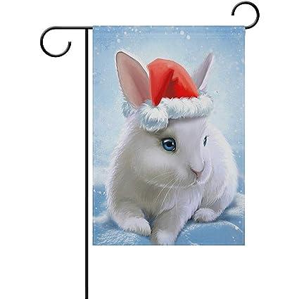Staroden Decorative Cute Animal Rabbit Bunny Garden Flag 12 X 18 Inch  Polyester For Home Garden