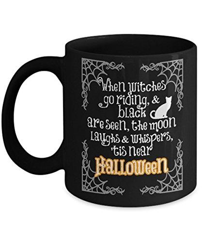 Halloween Poem - Black Mug
