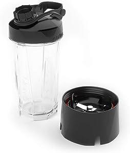 Blendtec FourSide (75 oz) GO Travel Bottle (34 oz) BUNDLE-Professional-Grade Blender Jar-BPA-free-Clear