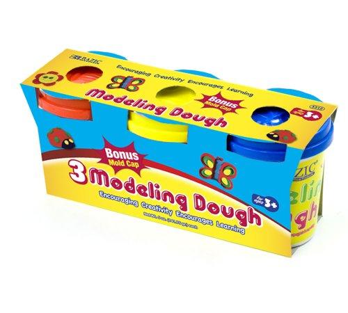 BAZIC 5 Oz. Multi Color Modeling Dough (3/Pack)