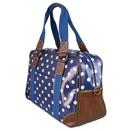 Miss Lulu , Damen Tote-Tasche Polka Dots Navy Set