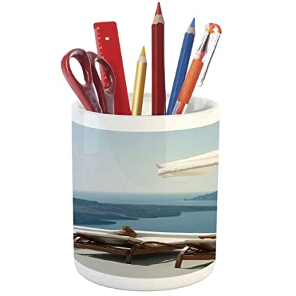 Amazon com : Pencil Pen Holder, Travel Decor, Printed