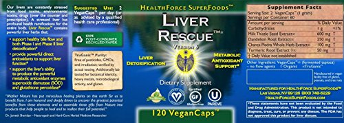 HealthForce Nutritionals - Liver Rescue 5+ - 120 Vegetarian Capsules by luckyvitamin (Image #1)