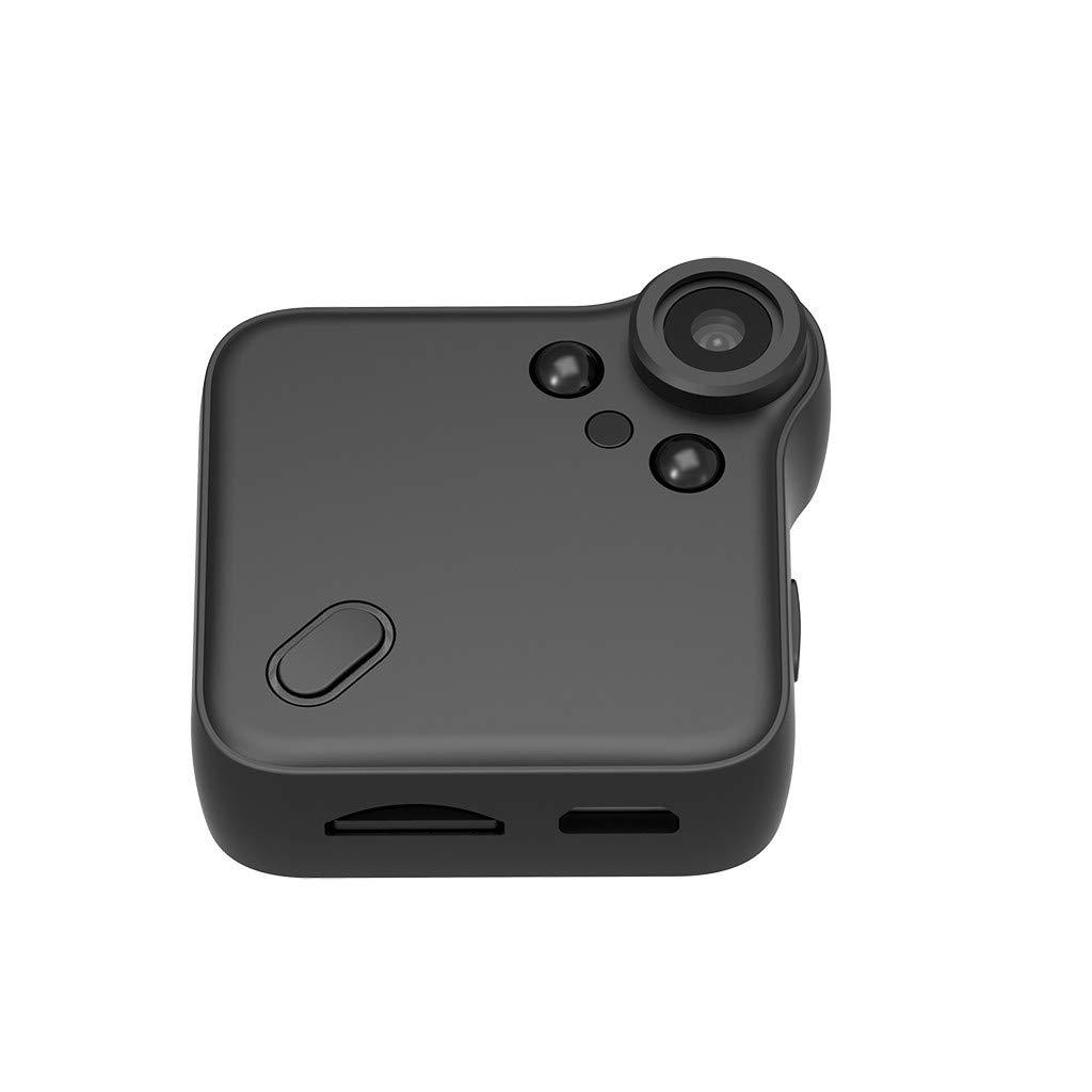 Wabaodan Wifi Mini Camera C1s P2P Full HD 1080P Infrared Night Version IP Cam Car DVRs Magnetic Clip Wireless Flexible Camera(Black)