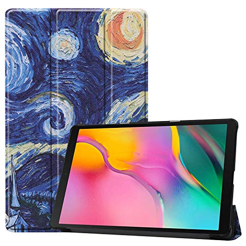 Galaxy Tab A 10.1 case 2019 (SM-T510 / T515), YMH Ultra Slim Lightweight Magnetic Tri-Fold Multi Angle Stand Folio Cute Case Cover PU Leather for Kids for Samsung Galaxy Tab SM-T510 T515 (04)