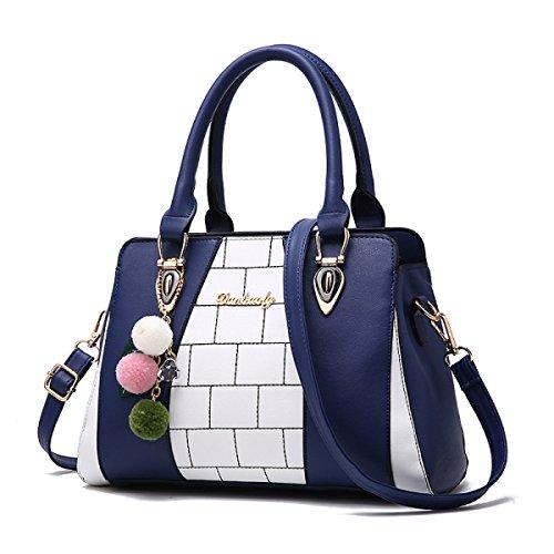 Donne Messenger Di Elegante Bag Ladies Blu Fashion Delle Elaborazione Dell'unità A Borse Cuoio Borsa Tracolla FwqIvxFA
