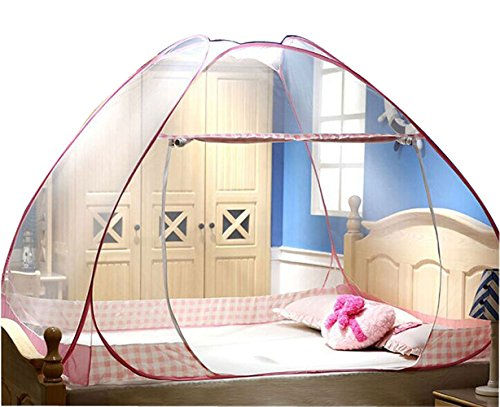 CdyBox Folding Mosquito Net Tent Canopy Curtains for Beds...
