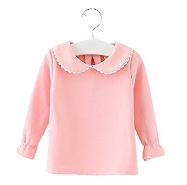 Amazon.com: Baby Girls Cotton Long Sleeve T Shirt Blouse Tops ...