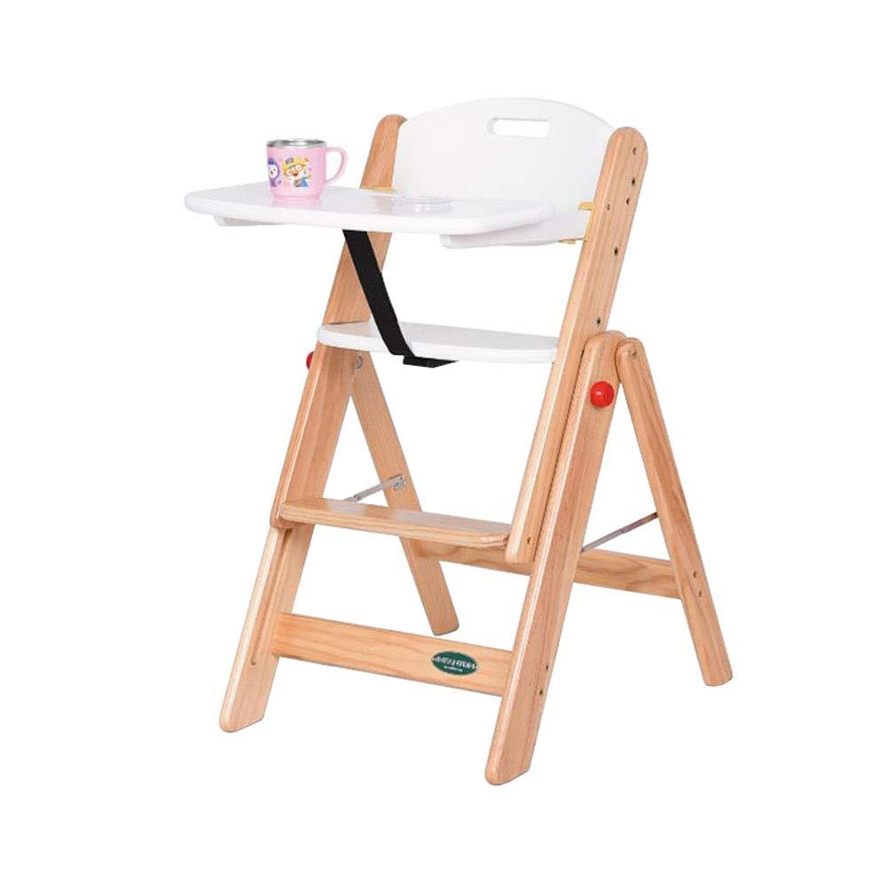 赤ん坊のハイチェアの純木の折りたたみ式調節可能な供給の椅子のポータブル   B07T2KBWBZ