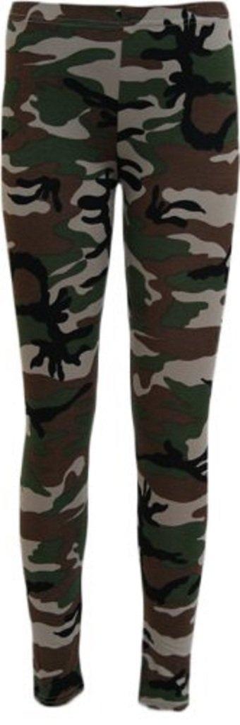ZJ Clothes Women Plus Size Printed Leggings Pants Rose Skull Army