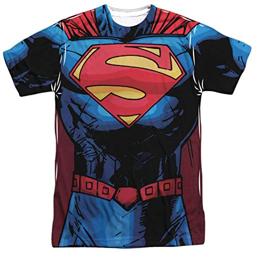 Superman- New 52 Costume Tee (Front/Back) T-Shirt Size XXL -