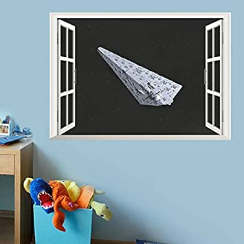 Amazoncom Wapel Creative Home Decor Fake Window Wall Stickers Star