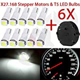 CCIYU 6x For 03 04 05 Sunfire Stepper Motor X27.168 Speedometer &10x T5 White LED Bulb