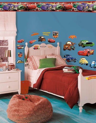 Wallhogs Disney Cars Piston Cup Champs Room Makeover Kit #1