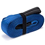 "Vault Cargo Management Tow Strap 3"" x 20 Heavy Duty 30,000 Lbs Capacity Towing Straps with End Loops for Off Road Vehicle - Emergency Off Road Tow Rope for Your Truck, Jeep, o"