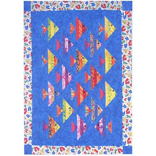 Pattern~1 Fish 2 Fish~ Using 2 1/2in Strips Cozy Quilt Design (Pattern Fish Quilt)