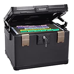 Honeywell 1108 1 Hour Fire/Water Large File Safe Chest - Legal/letter/A4 Size Documents Review