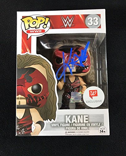 Kane Signed WWE Funko Pop Walgreens Exclusive Figure - Autographed Wrestling Cards - Exclusive Wrestling Figure