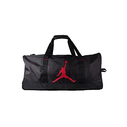 wholesale dealer bdcc8 17488 Nike Air Jordan Jumpman Trainer Duffel GYM Bag (Black Gym Red)
