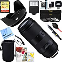 Tamron 100-400mm F/4.5-6.3 Di VC USD Zoom Lens for Nikon AFA035N-700 + 64GB Ultimate Filter & Flash Photography Bundle