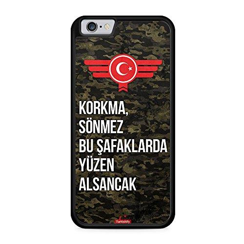 Korkma Sönmez Türkiye Türkei Camouflage - Hülle für iPhone 6 Plus & 6s Plus SILIKON Handyhülle Case Cover Schutzhülle - Turkey Flagge Flag Military Militär