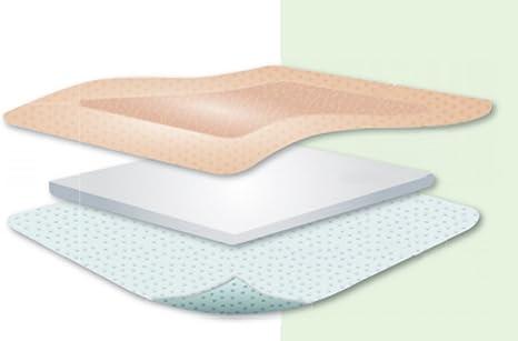 Kliniderm Foam Silicone, apósitos cuadrados con bordes, 10 x 10 cm: Amazon.es: Salud y cuidado personal