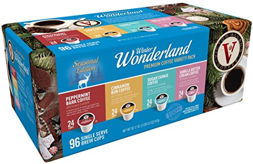 Victor Allen Coffee Winter Wonderland Single Serve K-cup, 96 Count (Compatible with 2.0 Keurig Brewers) by Victor Allen