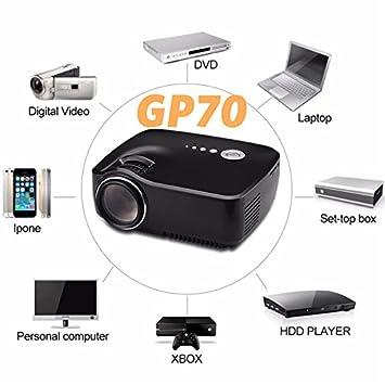 Per GP70 Mini proyector de vídeo sistema de LED LCD HD con Mando a ...
