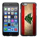 Graphic4You Vintage Lebanese Flag of Lebanon Design Hard Case Cover for Apple iPhone 6