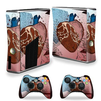 - MightySkins Skin Compatible with Xbox 360 S Console - Sticky Web | Protective, Durable, and Unique Vinyl Decal wrap Cover | Easy to Apply, Remove, and Change Styles | Made in The USA