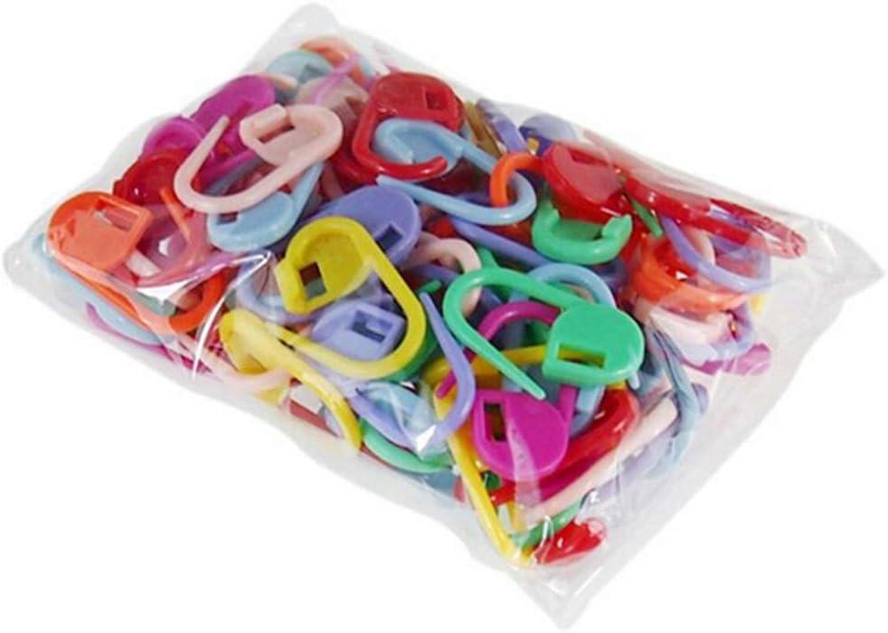 LLAni 50 fermapunti Colorati in plastica per lavori a Maglia.