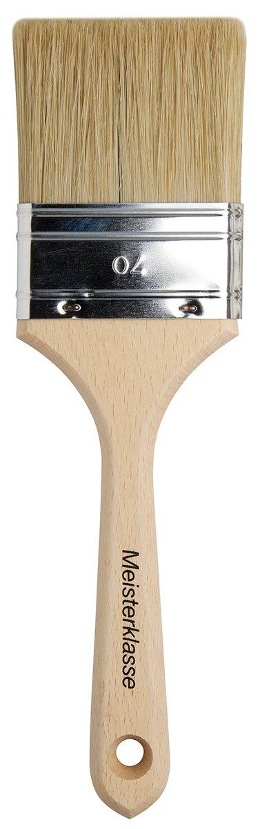 da Vinci Varnish & Priming Series 2410 Lacquering Brush, Six Fold Thickness Flat Hog Bristle with Plainwood Handle, Size 70 (2410-70)
