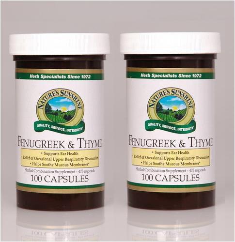 Naturessunshine пажитника и тимьян Поддержка Серьги Здоровье 100 капсул (упаковка 2)