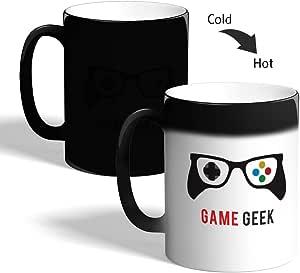 كوب القهوة السحري، اسود، بتصميم لعبة المهوس