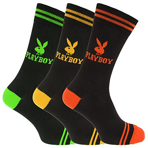 playboy-official-mens-logo-design-cotton-rich-casual-socks-pack-of-3-7-12-us-green-yellow-orange