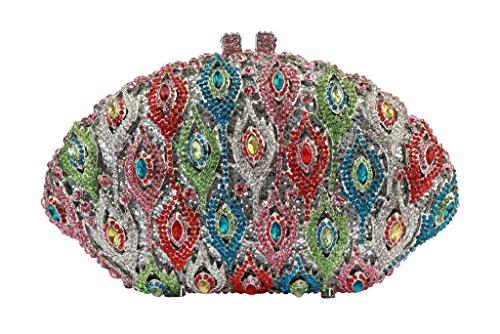 Yilongsheng Prom Crystal Bolsas de mujeres Multicolor
